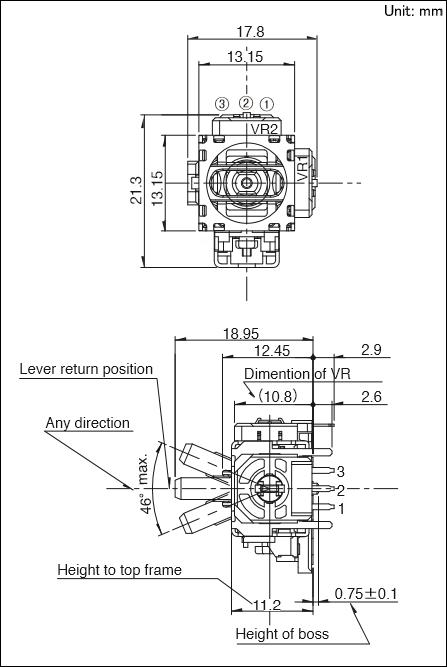 电位器式多功能操作装置